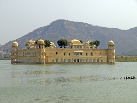 sagar: Jal Mahal or The Water Palace in the Man Sagar lake of Jaipur, Rajasthan, India Stock Photo