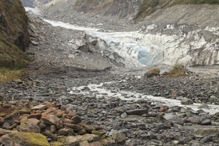 Fox glacier in the south island of new zealand photo