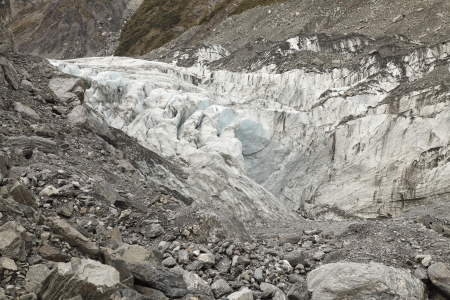 Shrunk of Fox Glacier in New Zealand from global warming photo