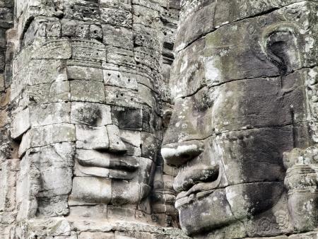 Smiling Angkor Faces at Bayon Temple, Siem Reap, Cambodia Stock Photo - 14016975