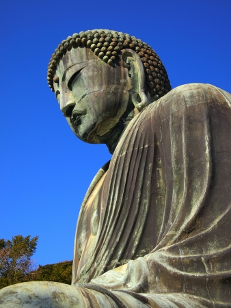 The Giant Buddha Statue (Daibutsu) of Kamakura city, Japan photo