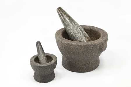 2 sizes of mortar and pestle photo