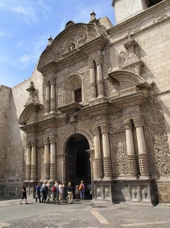 Iglesia de San Augustin (Church of Saint Augustine) in Arequipa, Peru.