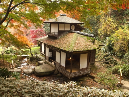 Choshukaku, the japanese styled house in Sankeien garden, Yokohama, Japan Éditoriale