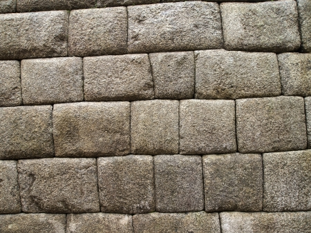 incan: Detail of Inca wall in the ancient city of Machu Picchu, Peru
