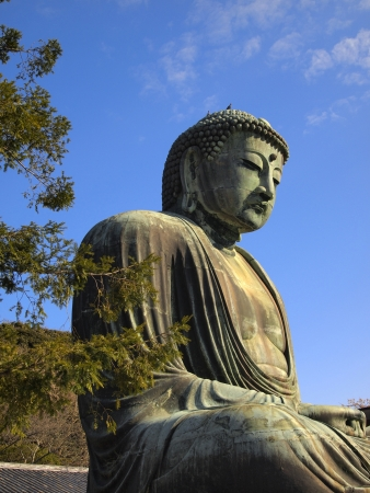 kamakura: Daibutsu or the Giant buudha statue in Kamakura city, Japan Stock Photo
