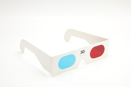 Isolated 3D glasses on white background Stock Photo - 14262964