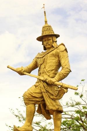 Statue of King Bayint Naung of Myanmar (Burma)