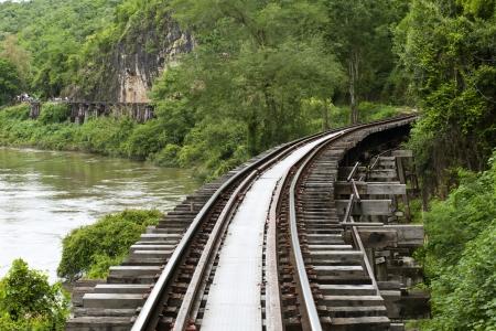 The Death Railway or The Thailand-Burma railway on World War II Archivio Fotografico
