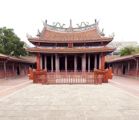 confucian: Tainan Confucius Temple, Taiwan. The first Confucian Temple in Taiwan. Stock Photo