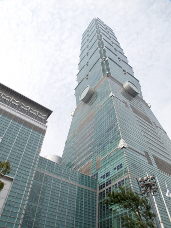 TAIPEI, TAIWAN - APRIL 29: The Taipei 101 building on April 29, 2010 in Taipei, Taiwan. The Taipei 101 ranked officially as the world's tallest building from 2004 until 2010.