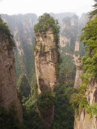 magnificence: Rock mountain in Zhangjiajie.