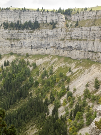 cirque: A natural rocky cirque of Creux du Van in Neuchatel, Switzerland Stock Photo