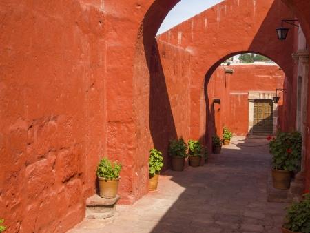 catalina: Alleys with arches within Santa Catalina Monastery, Arequipa, Peru