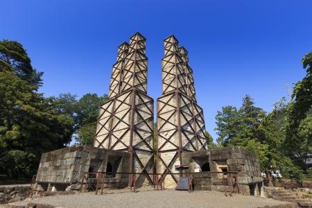 日本遺産の産業近代化の静岡伊豆韮山反射炉 写真素材