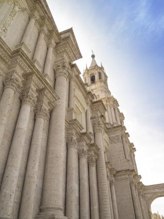 peru architecture: Olld Spanish architecture at Cathedral of Arequipa, Arequipa, Peru