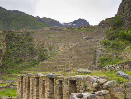 pisac: Ollantaytambo, an Inca archaeological site in southern Peru  Stock Photo