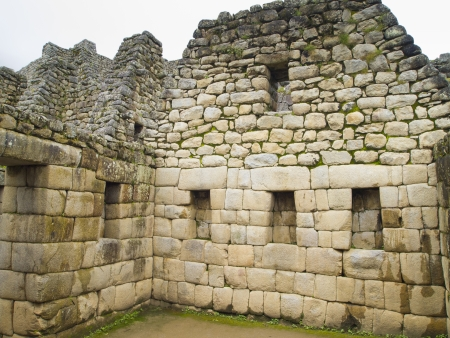 lintel: Made of Stone Interior in a room of Temple of the Sun in a pre-Columbian 15th-century Inca site of Machu Picchu in Cusco region, Peru