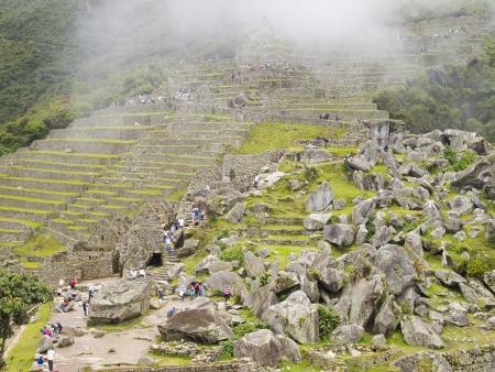 Machu Picchu Cusco Perú 15 De Marzo Los Turistas Visitan