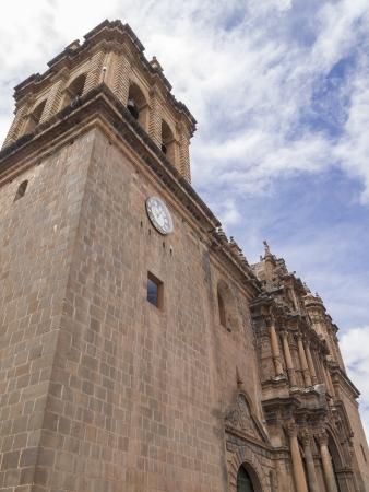 plaza of arms: Iglesia La Compana de Jesus in Cusco Peru Stock Photo
