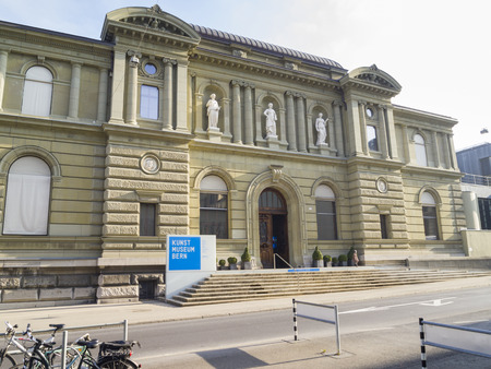 BERN, SWITZERLAND - OCTOBER 22  Kunst museum Bern  The Museum of Fine Arts Bern  on October 22, 2011 in Bern, Switzerland  Here is the oldest art museum in Switzerland with a permanent collection