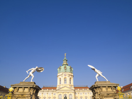 Exotic decoration of Prussian baroque and rococo architecture of Schloss Charlottenburg Palace in Berlin, Germany. This largest palace and its decoration was built at the end of the 17th century.