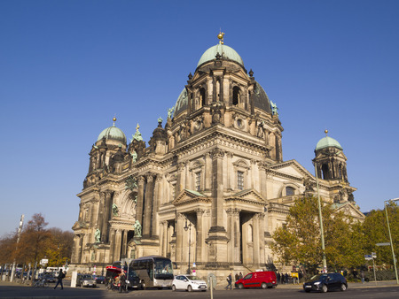 parish: BERLIN - NOV 12  Berlin Cathedral  Berliner Dom  on November 12, 2011 in Berlin, Germany  This cathedral is a famous landmark on the Museum Island in Mitte district of Berlin