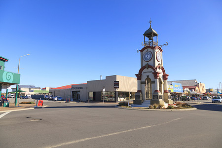 pioneering: HOKITIKA, NEW ZEALAND -MAY 19: Hokitika Clock Tower in Central business district on May 19, 2012 in Hokitika, West Coast, New Zealand. Hokitika is a township in the West Coast Region of South Island.