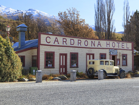 gold rush: WANAKA, NEW ZEALAND -MAY 21: Facade of Cadrona Hotel on May 21, 2012 in Wanaka, NZ. it is known for its distinctive hotel of gold rush vintage which established as a gold rush township in the 1860s. Editorial