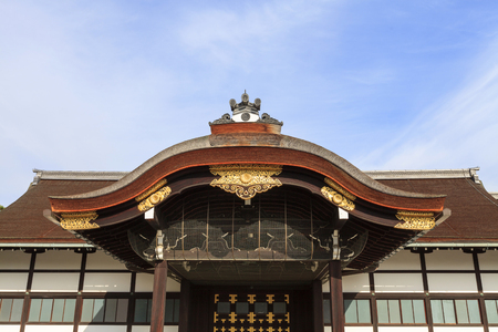 Shinmikurumayose, Kyoto Imperial Palace, Kyoto, Japan. The Shinmikurumayose structure was built as a new carriage entrance on the occasion of the enthronement ceremony of Emperor Taisho in 1915. Editorial