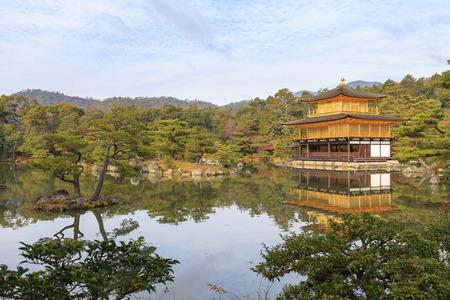 rokuonji: The Golden Pavilion at Kinkakuji (also Kinkaku-ji or Rokuon-ji) temple in autumn, Kyoto, Japan. (UNESCO World Heritage Site) Editorial