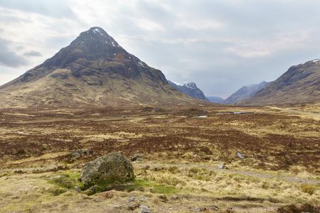 glencoe: Highland valley landscape, Glencoe, Scottish Highland, Scotland. United Kingdom.