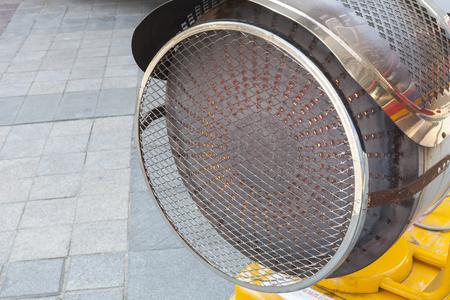 Outdoor gas heater blower. Archivio Fotografico