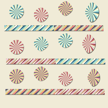 imposing: Paper colored circles on the background Illustration