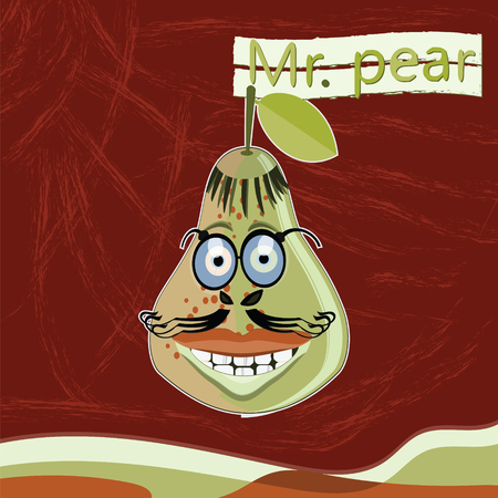 mr: Mr Pear Cartoon Character which glasses