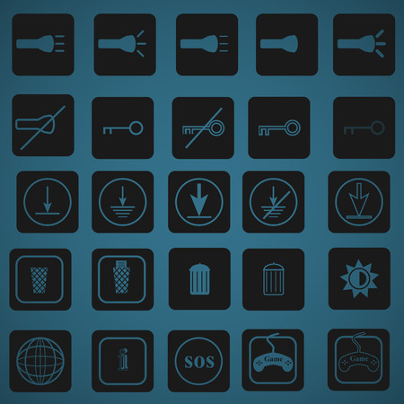 25 icon set for phone and pc