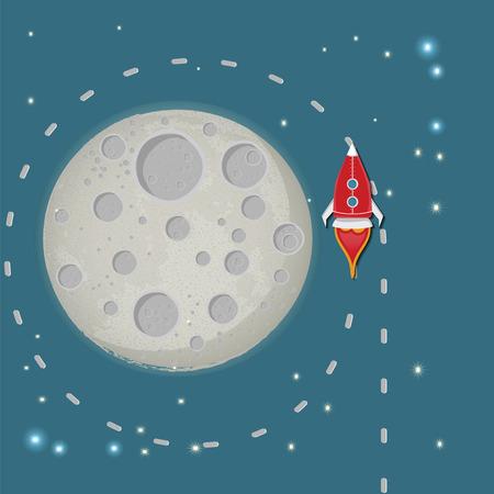 rocketship: Start Up Space Rocket. Illustration Illustration