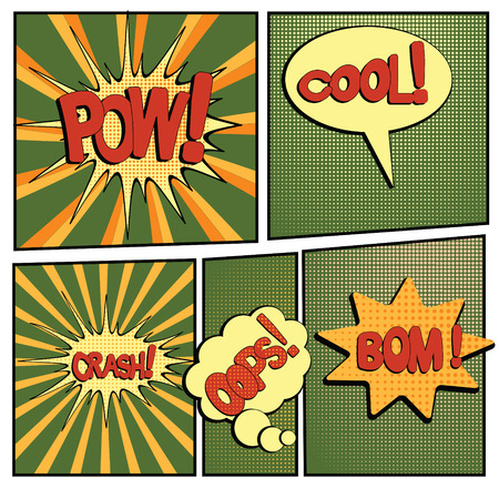 cartoon bang-4 Banco de Imagens - 70179797