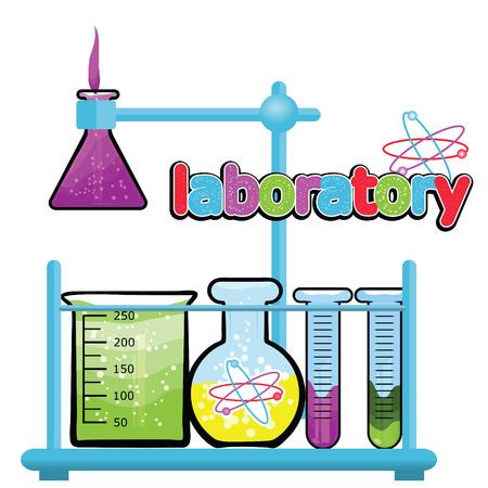 infographies de laboratoire médical cinque rouge, violet, bleu colore