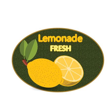 Illustrazione vettoriale poster poster di etichetta Lemonade colorato vintage