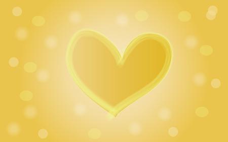 yellow heart: yellow heart background Illustration