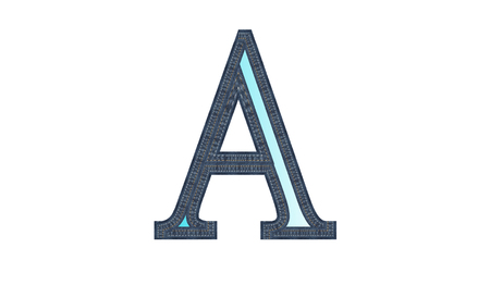Alphabet A with jean style