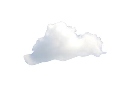 Isolated clouds on a white background