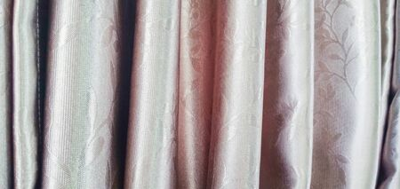 Curtain background with beautiful flower patterns