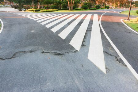 Crosswalk in the park To facilitate people
