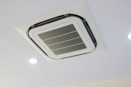 The design of the ceiling air conditioners and two light bulbs