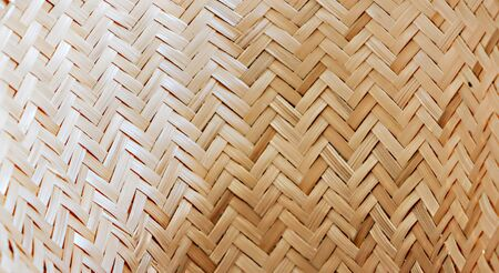 The texture of the bamboo weave basket