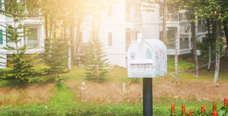 Mailbox of the village in the evening