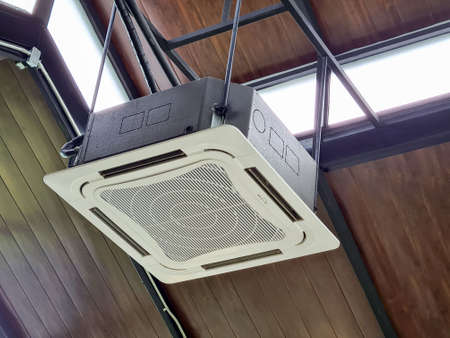 Wooden ceiling mounted air conditioning system