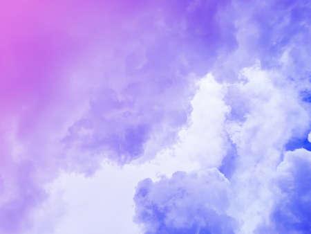 Cloudy purple sky on an overcast day